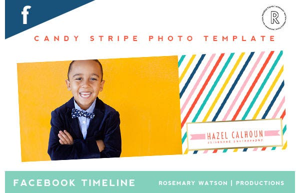 candy stripe photo facebook timeline