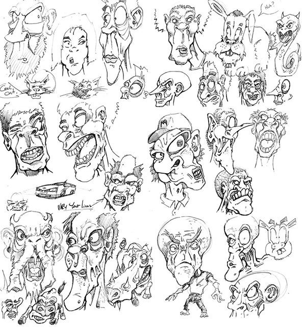 cartoon face sketch14