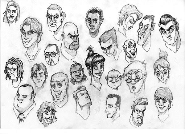 cartoon face sketch20