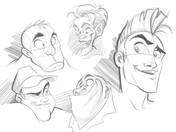 cartoon face sketch4