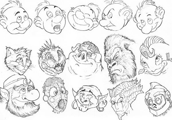 cartoon face sketch6