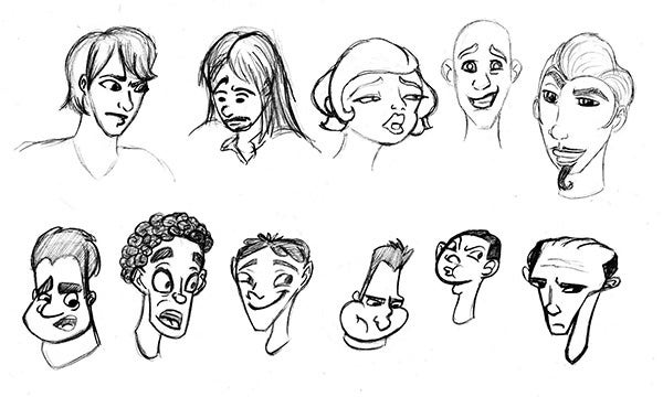 cartoon face sketch9