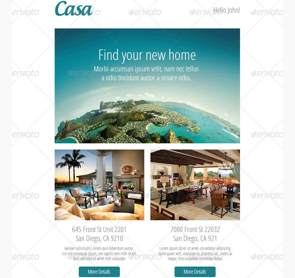 casa responsive email template
