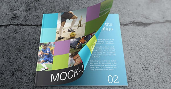 catalog mock up