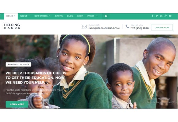 charity responsive non profit wordpress theme