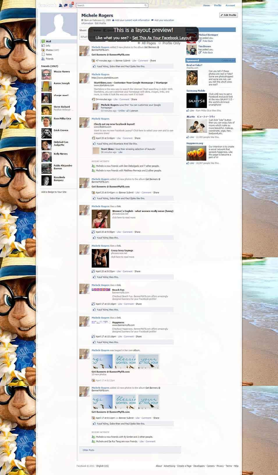 chipwrecked facebook layout preview