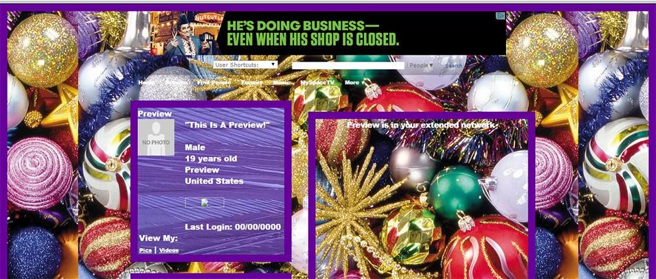 christmas balls and glitters layout