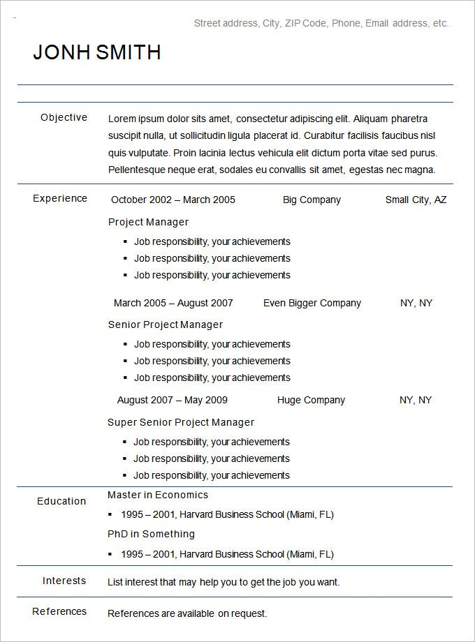 chronological resume sample for students template word 2007 google docs