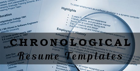 chronologicalresumetemplates