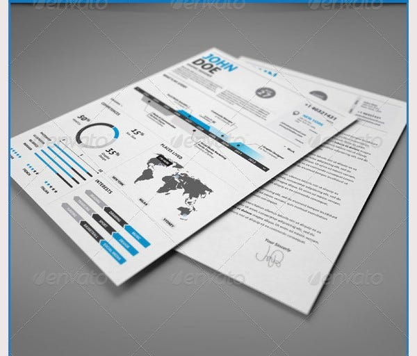 clean infographic resume vol 2
