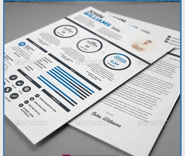 clean infographic resume vol 3 cover letter download - Attractive Resume Templates Free Download