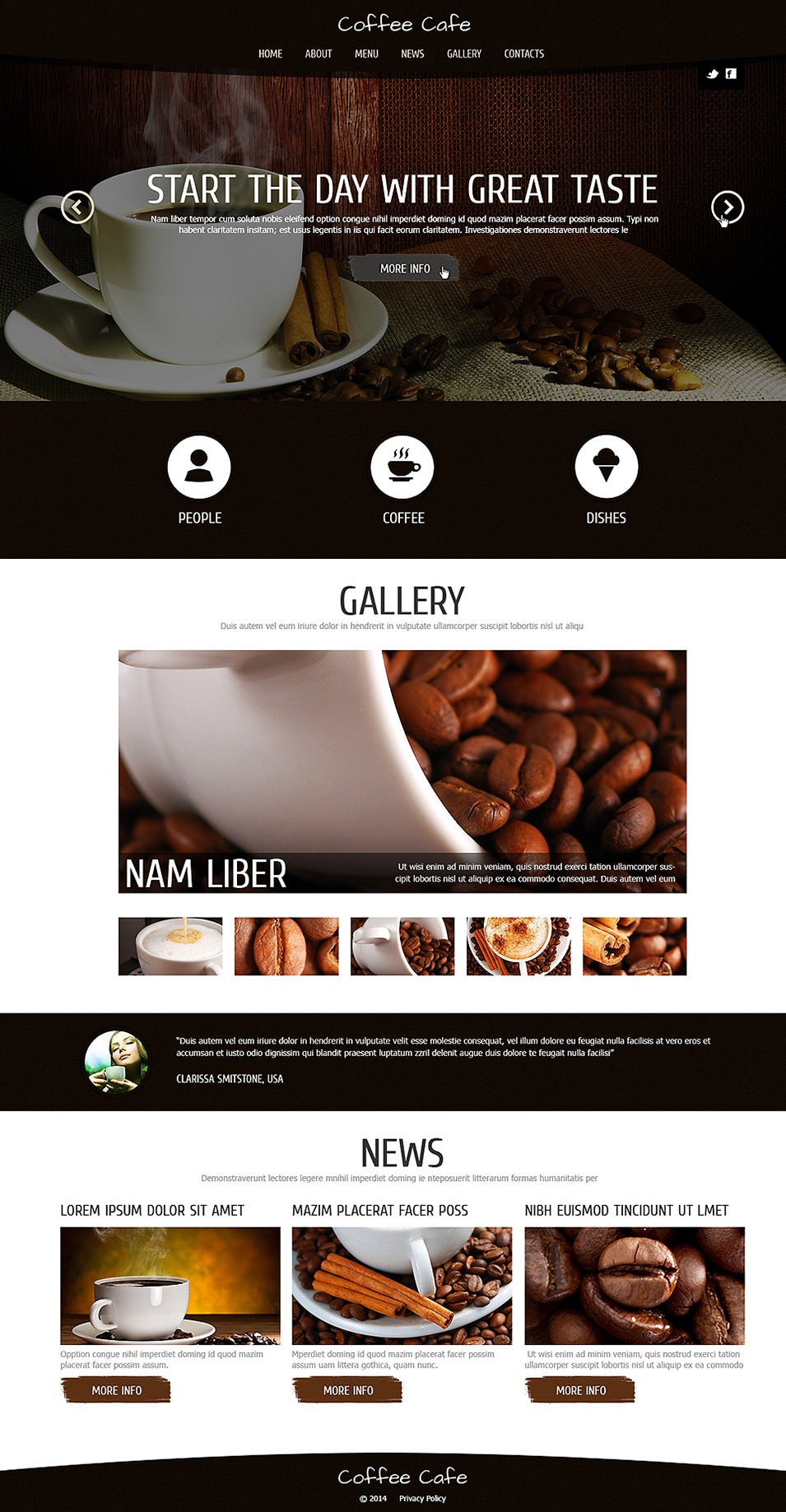 Coffee for Freshness Joomla Template