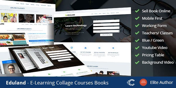 collage career html landing page
