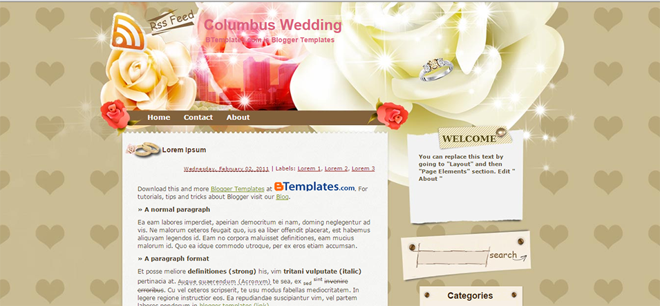 columbus wedding blogger template btemplates