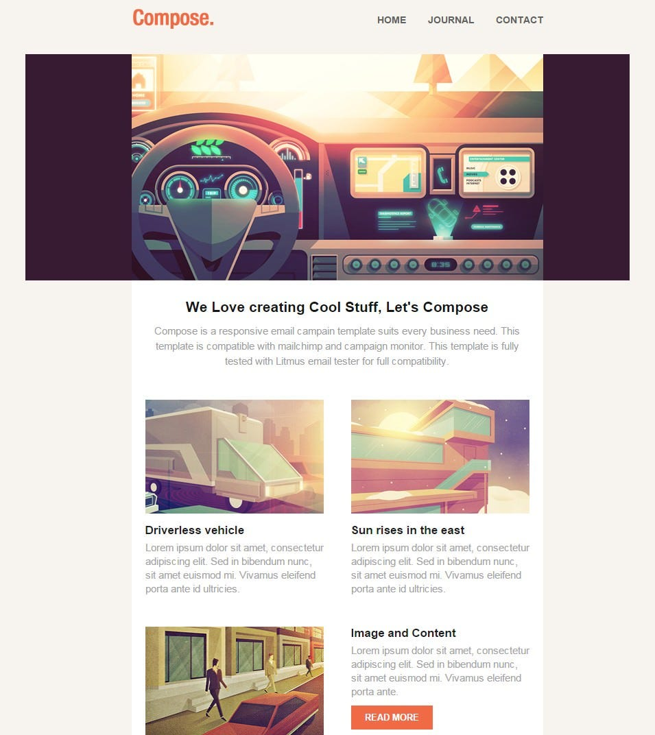 compose responsive email template