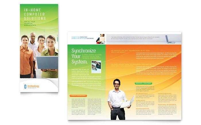 computer it services brochure template