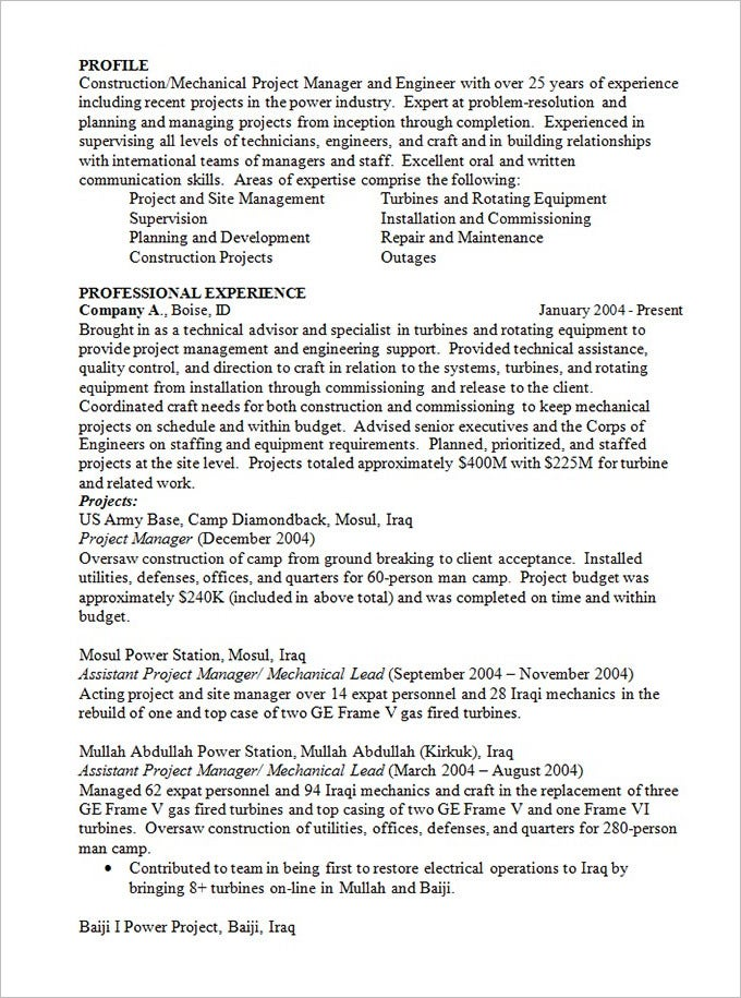 assistant project manager resume example carpinteria rural friedrich