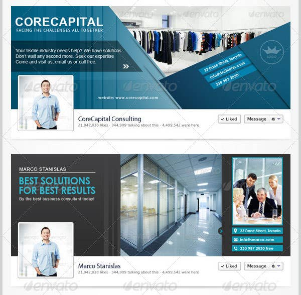 20 facebook business page templates free premium templates corporate business facebook covers accmission Choice Image