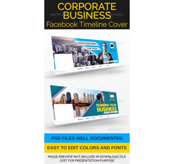 corporate business facebook timeline cover