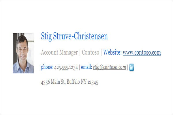 corporate email signature