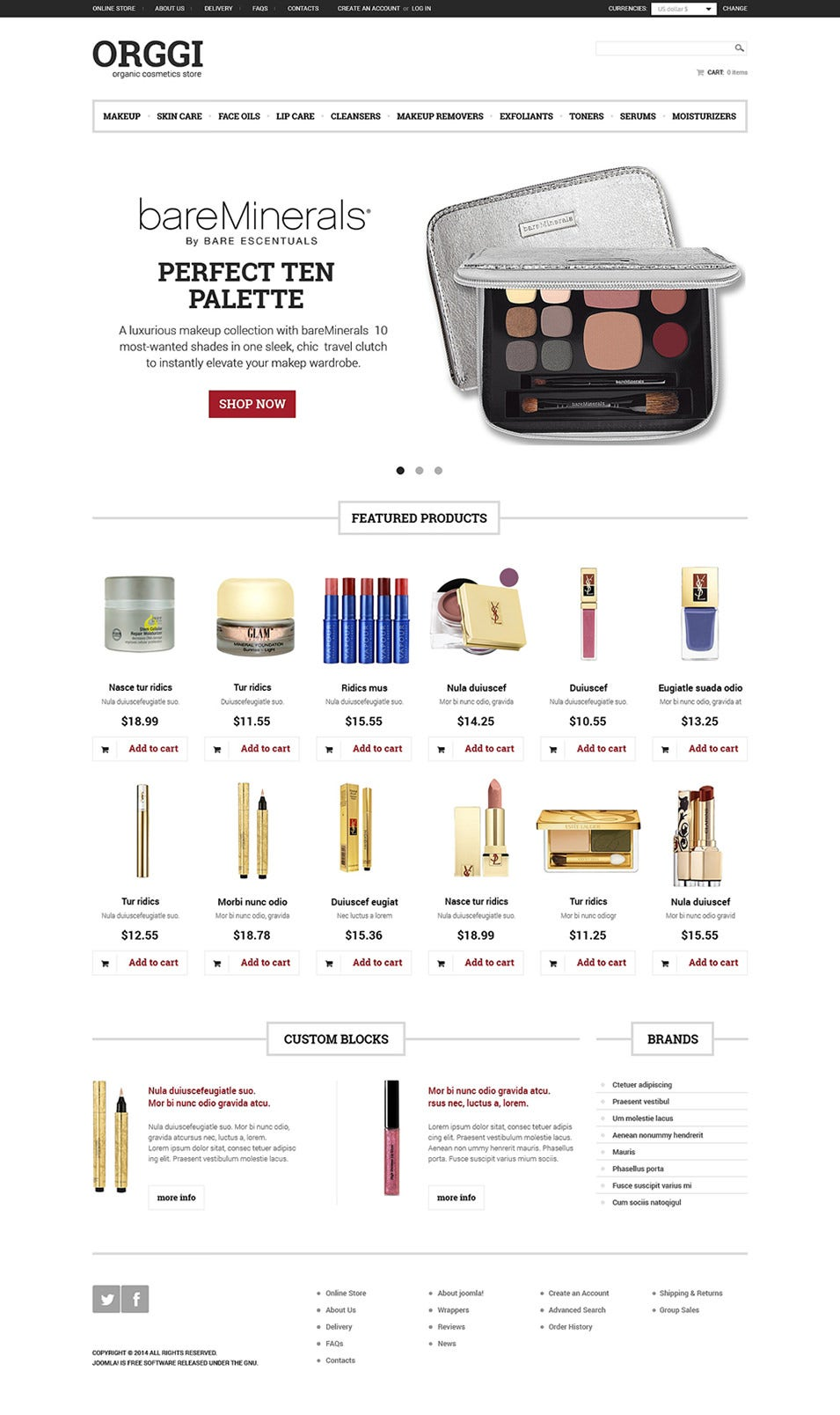 cosmetics store virtuemart template4