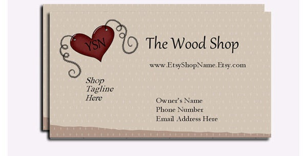 37 best premium crafter business cards for download free crafters etsy shop business card reheart Images