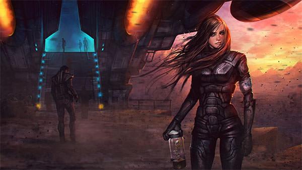 create spectacular sci fi concept art