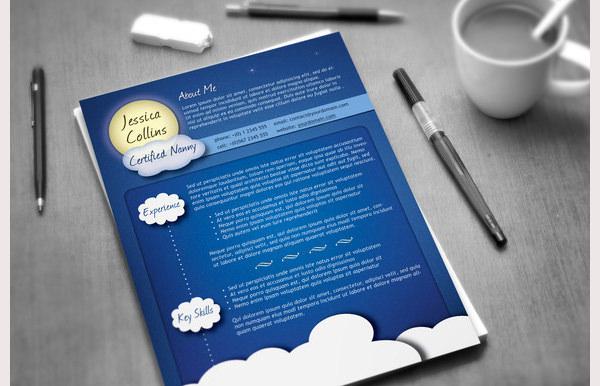 creative nanny resume