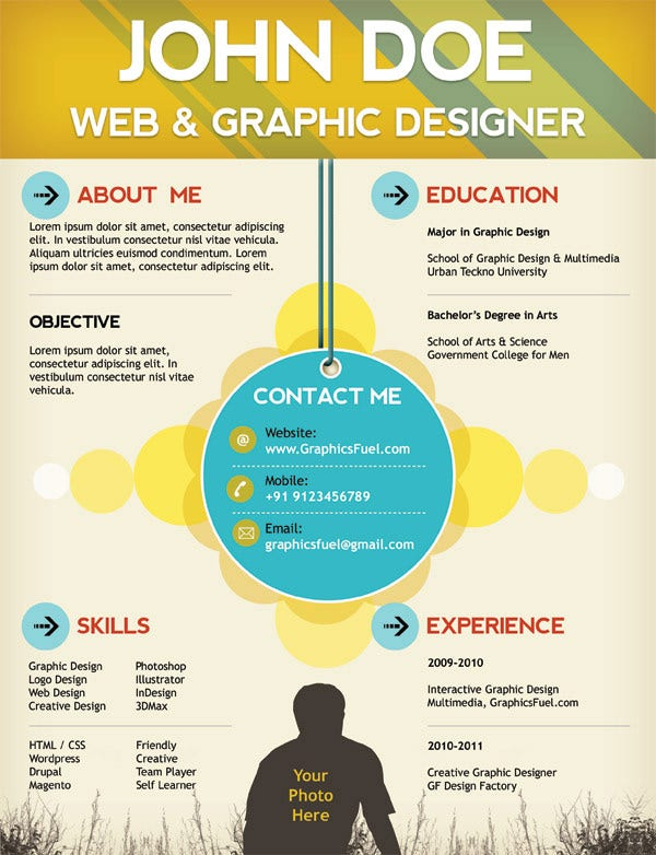 Infographic Resume free online infographic resume templates : Creative Resume Template – 81+ Free Samples, Examples, Format ...