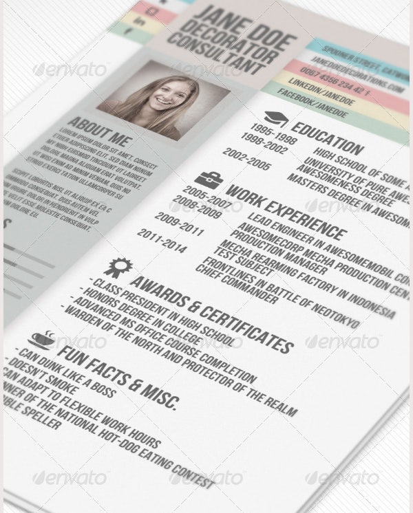 Creative Resume Template – 81 Free Samples Examples