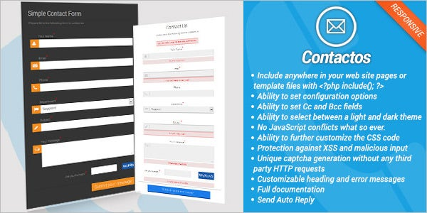 20 php contact form templates free website themes