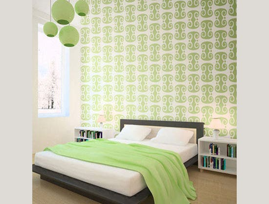Bedroom Stencil Ideas. Curl Pattern Wall Stencil for Painting Paint Stencils  Free Premium Templates