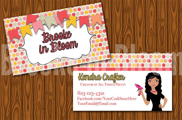 37 best premium crafter business cards for download free custom crafters bakers business card reheart Image collections