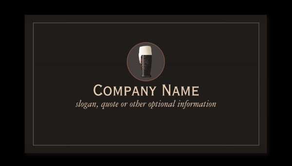 dark craft beer cicerone business card templates