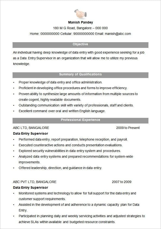 Best Resume Sample Pdf