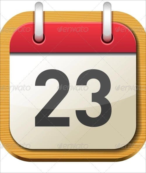 date calendar icons