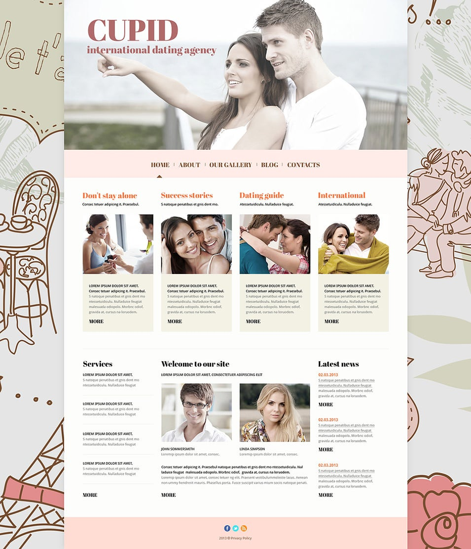 dating responsive joomla template1