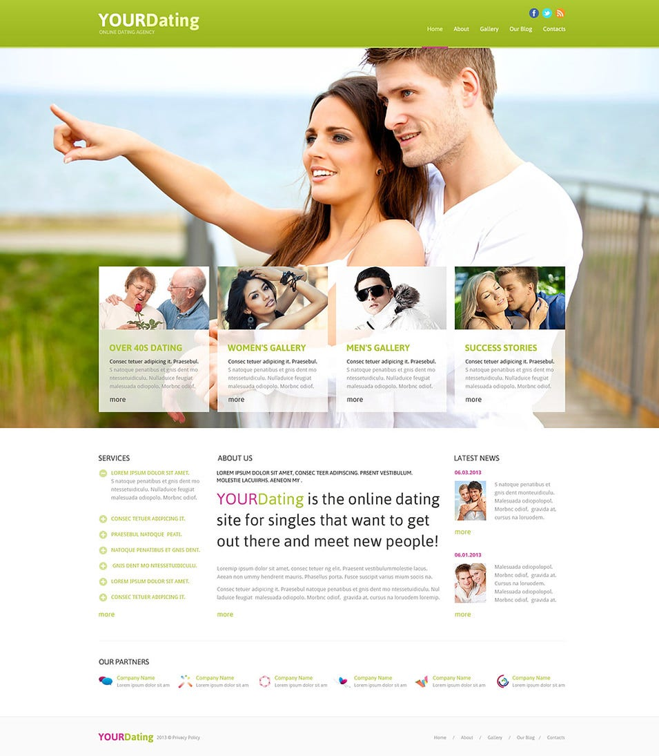 Dating site joomla template