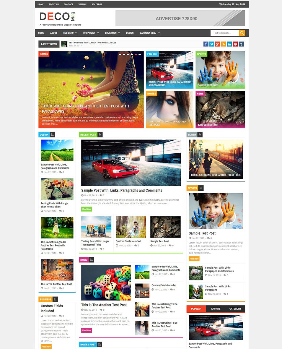 Top Magazine Journal Blog Template Free Sample Example Format - Online magazine template