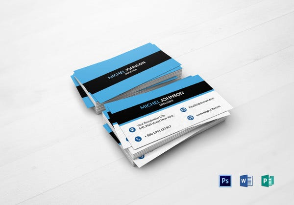 designer business card photoshop template