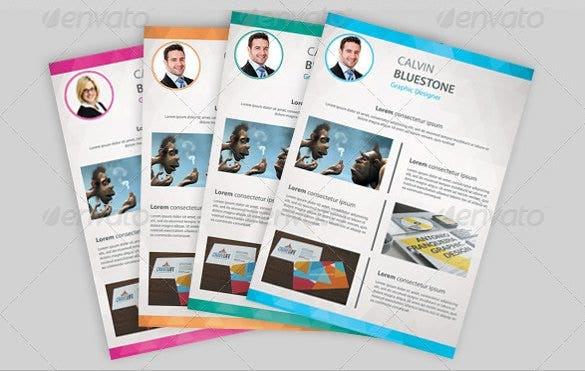 designer resume photoshop format template download