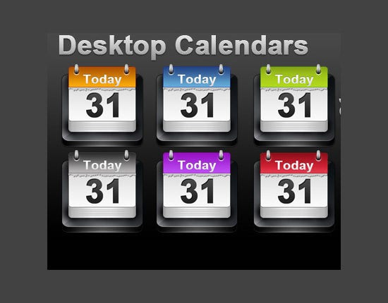 desktop calendar icon