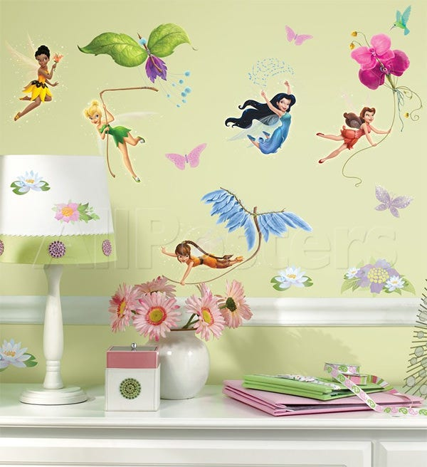 disney fairies peel stick wall decals wall decal at allposters