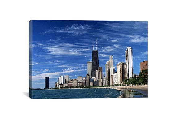 downtown chicago canvas giclee art print overstock