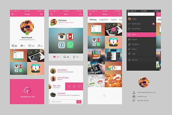 dribbble app concept