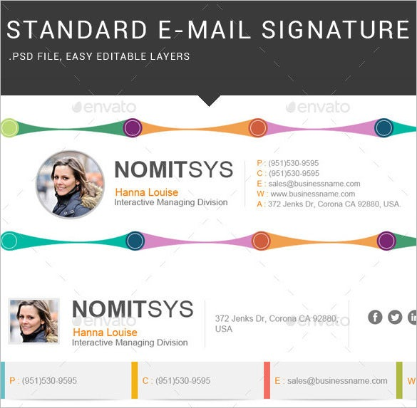 e mail signature for interactive manager