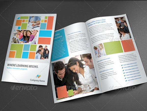 College Brochure Template   Free Jpg Psd Indesign Format