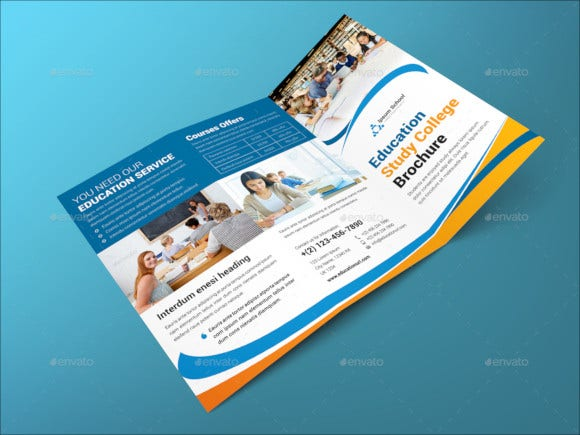 education college trifold brochure