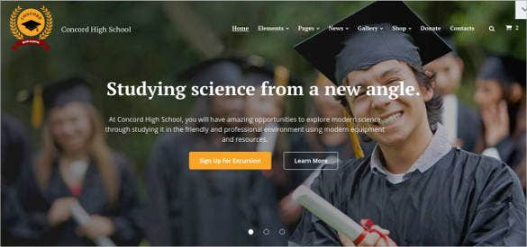 education html template download
