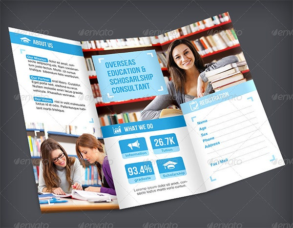 education trifold brochure 2